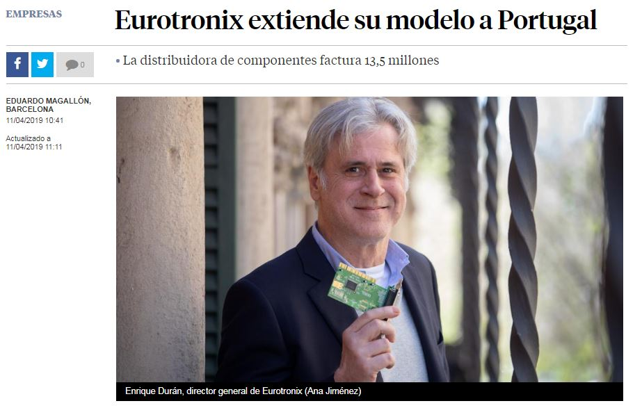 La Vanguardia - Eurotronix expands its model to Portugal