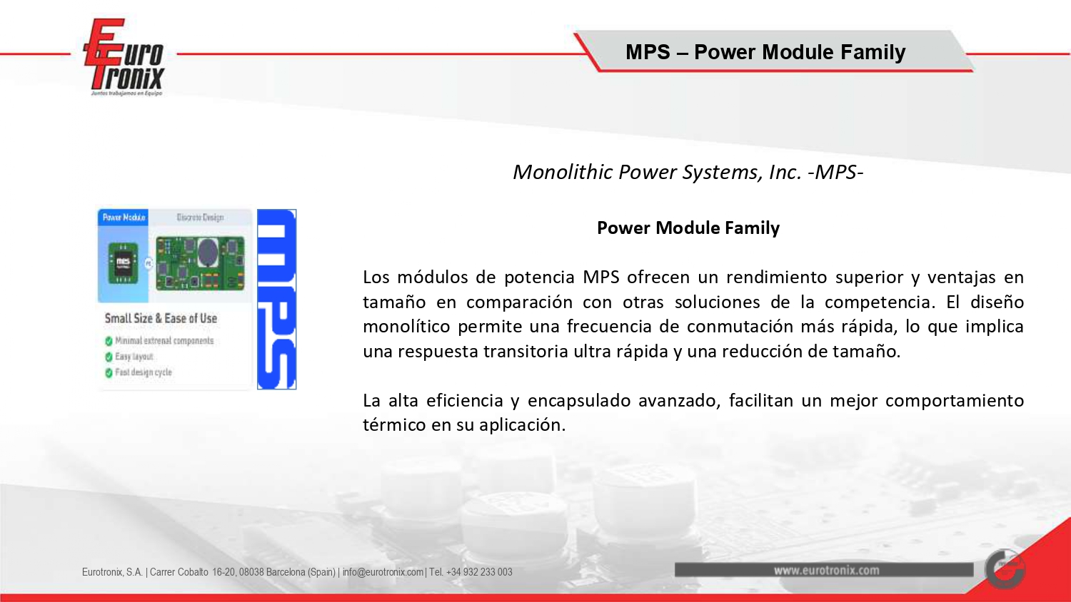 Monolithic Power Systems, Inc. -MPS- Power Module Family