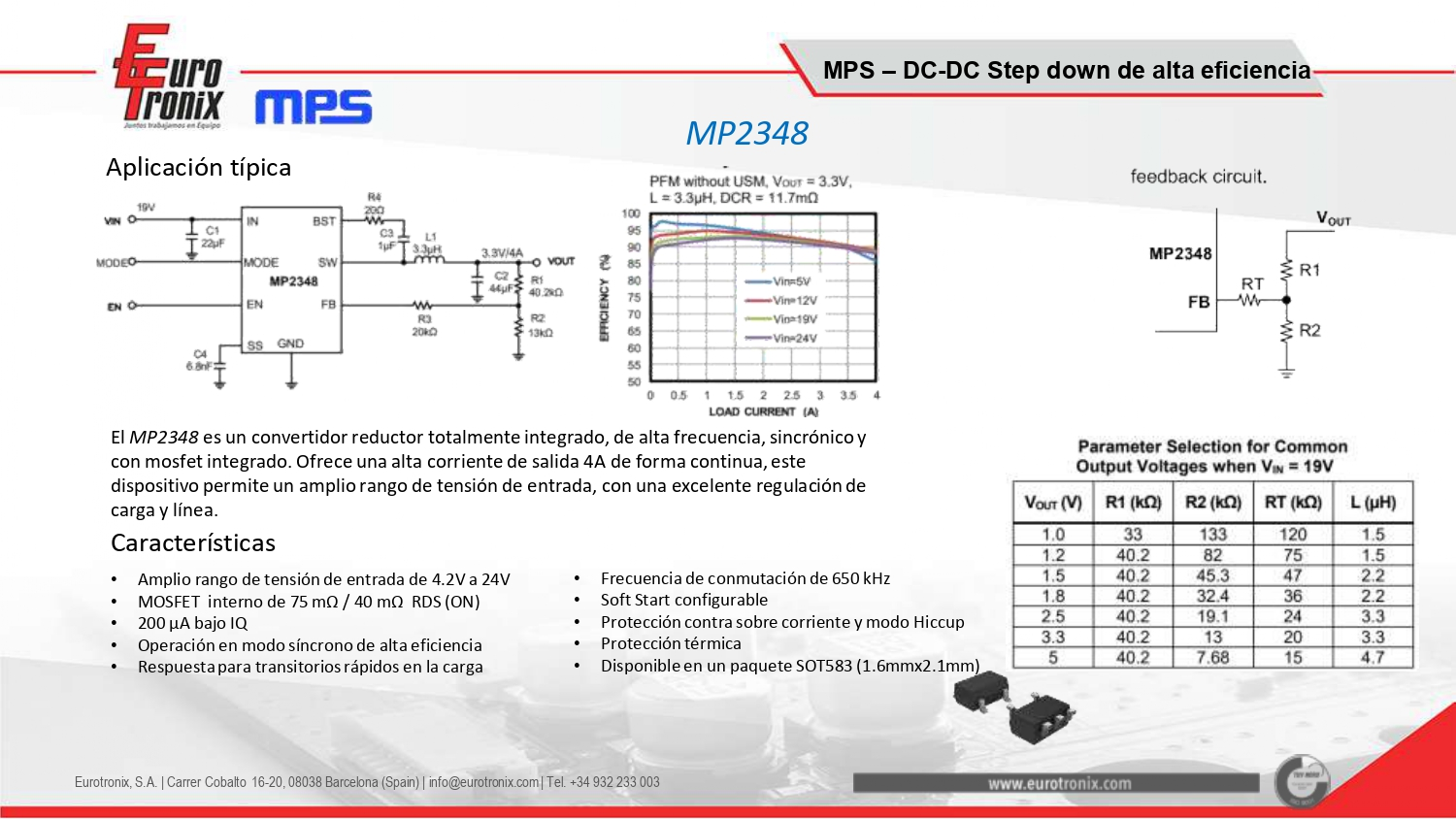 MPS - MP2348 (DC-DC Sincrono)