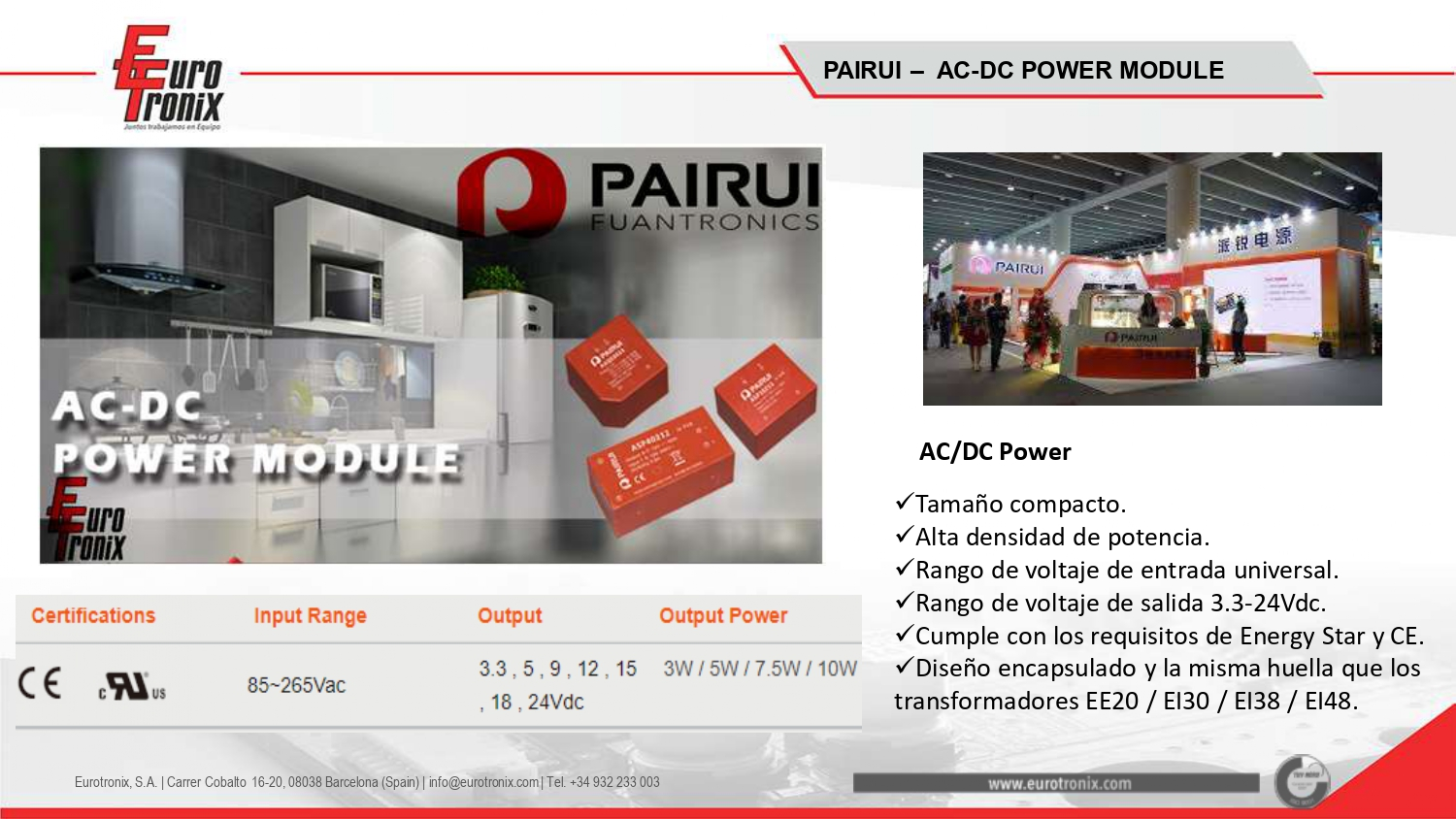 PAIRUI - AC-DC MODULES