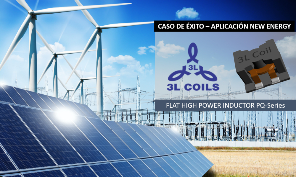 """Flat High Power Inductors"" customizados para seguidores solares"