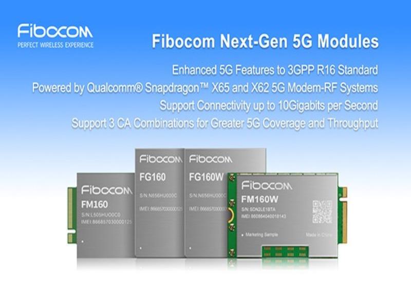 Módulo Fibocom FM160 5G con tecnología Qualcomm® Snapdragon